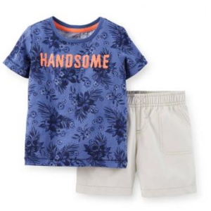bermuda y playera Carters