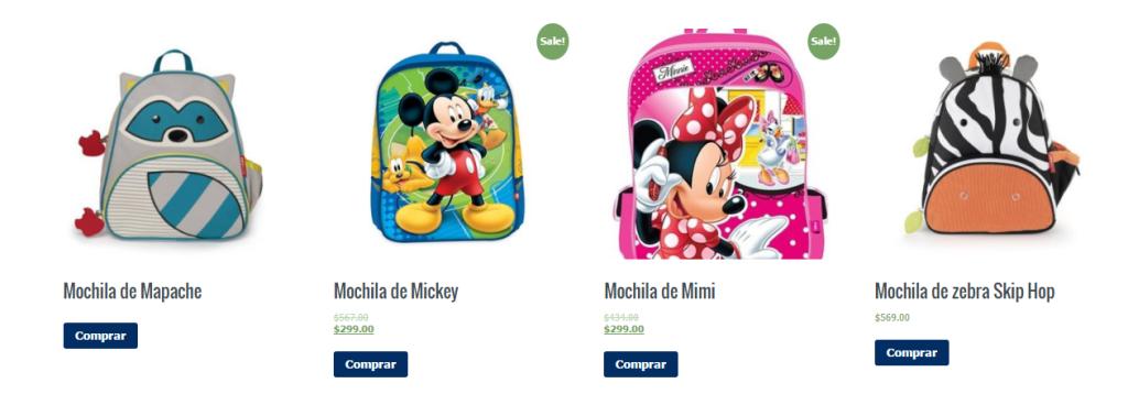 mochilas regreso a clases